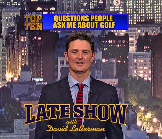 Justin Rose Does Top Ten List on Letterman