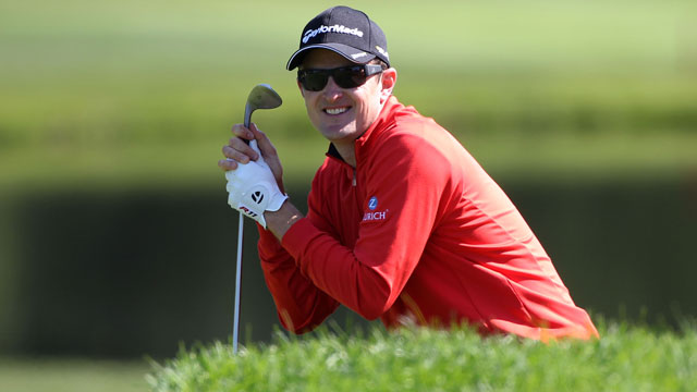 Justin Rose Takes One of the Strangest Penalties You'll Ever See…